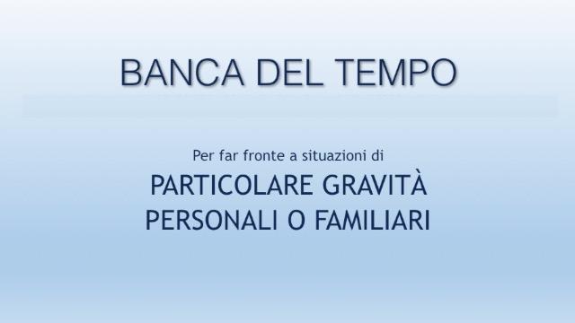 INTESA SANPAOLO - FOCUS ACCORDI: La banca del tempo