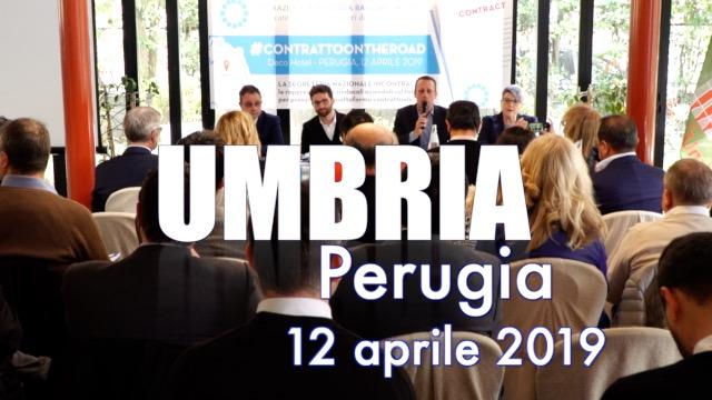 Tappa a Perugia per l'Umbria -Contratto on the road