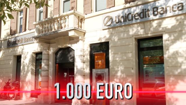 PREMIO DI 1.000 EURO PER TUTTI I DIPENDENTI DI UNICREDIT