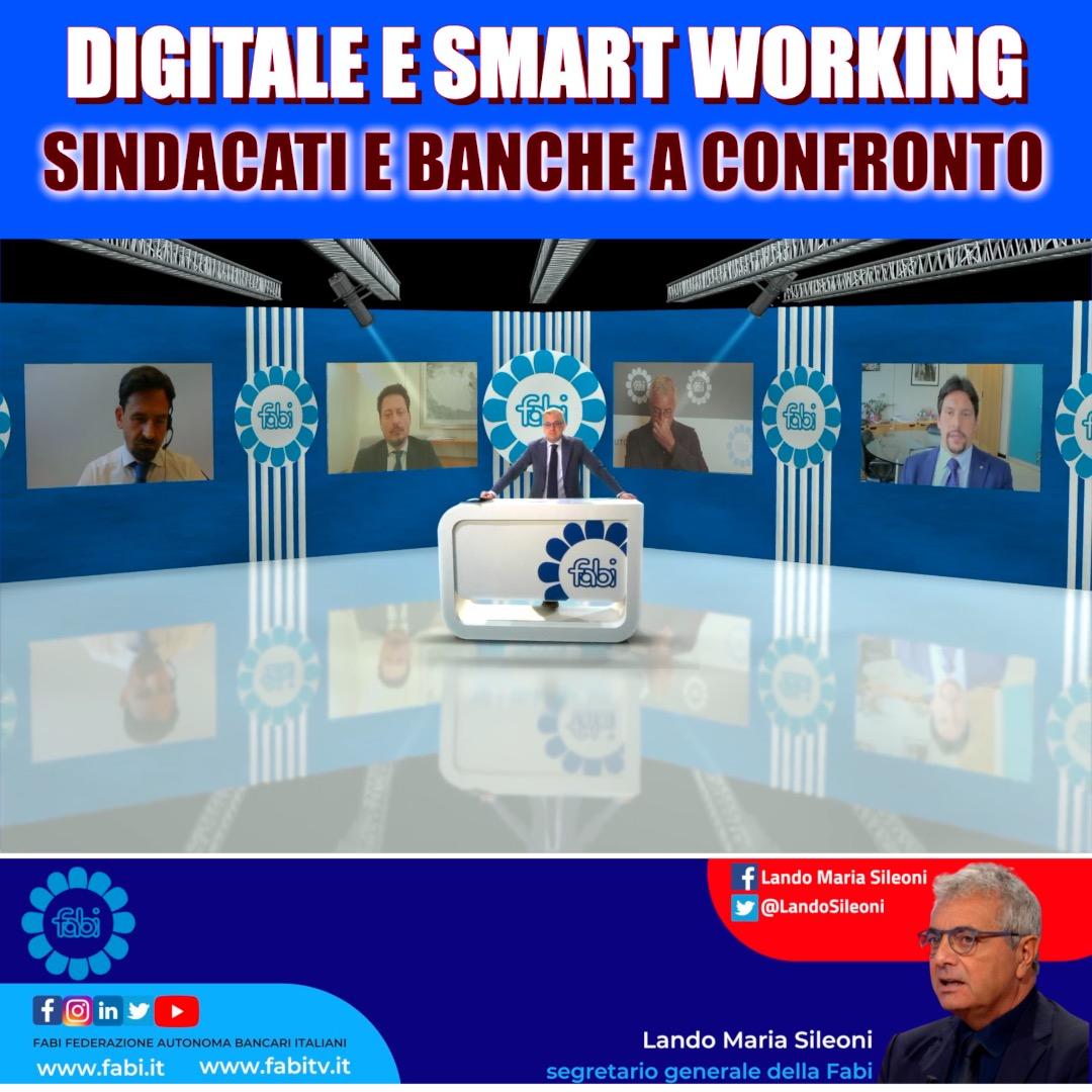SMART WORKING E DIGITALIZZAZIONE SUL TAVOLO FABI-BANCHE