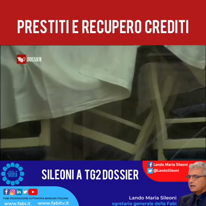 PRESTITI E RECUPERO CREDITI, SILEONI A TG2 DOSSIER