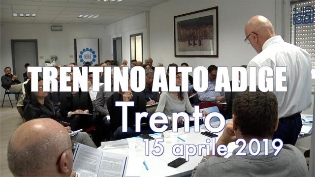 Tappa a Trento per il Trentino Alto Adige-Contratto on the road